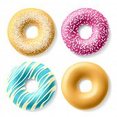 Colorful donuts. Vector.