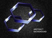 Geometric Polygons Sparkle On The Background. 3d Vector Illustration . Minimal Geometric Background. poster
