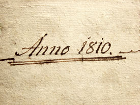 picture of annal  - a photo of a old handwriting written Anno 1810 - JPG