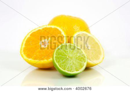 Постер, плакат: Цитрусовые фрукты, холст на подрамнике