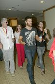 SAN DIEGO, CA - JULY 13: Liam McIntyre arrives at the 2012 Comic  Con convention press room at the B