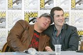 SAN DIEGO, CA - JULY 13: Adam Baldwin & Sean Maher attends a  press conference for