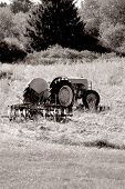 Old Tractor B&w Sepia 1