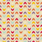 stock photo of chevron  - Aztec Chevron vector seamless colorful pattern - JPG