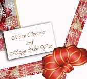 pic of merry chrismas  - card Merry Christmas and happy new year on red tones - JPG