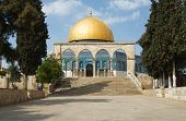picture of mosk  - Stairs leading to the Dome of the Rock in Jerusalem - JPG