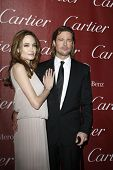 PALM SPRINGS, CA - JAN 7: Brad Pitt; Angelina Jolie at the 23rd Annual Palm Springs International Fi