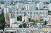 pic of polonia  - Panorama of Warsaw with typical polish house of flats - JPG