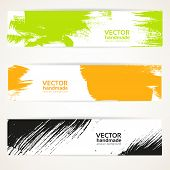 Abstract color vector handdraw banner set