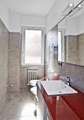 rot Badezimmer hdr
