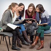 picture of fellowship  - Young woman teacher teach God - JPG