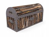 Old Closed Wooden Chest