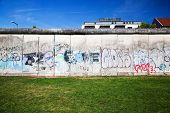 Berlin Wall Memorial with graffiti. The Gedenkstatte Berliner Mauer