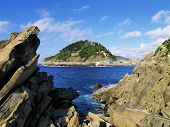 foto of basque country  - View from Santa Clara Island in Donostia  - JPG