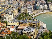 stock photo of basque country  - Cityscape of Donostia  - JPG