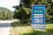 Transfagarasan C7 Highway Signboard, Romania