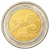 5 Peruvian Nuevo Sol Coin