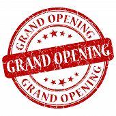 Grand Opening Red Grunge Stamp