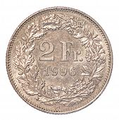 2 Swiss Francs Coin