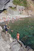 Beach Near Riomaggiore In Cinque Terre In Italy