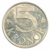 5 Swedish Kronor Coin