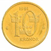 Ten Swedish Kronor Coin