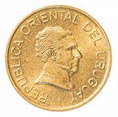 one Uruguayan peso coin