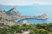 pic of crimea  - Black sea coastline in Crimea - JPG