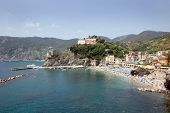 Beaches Of Monterosso On The Ligurian Coast In Italy