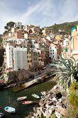 Harbour Of Riomaggiore In Italy