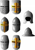 picture of reign  - medieval helmets that were used to competing in tournaments - JPG