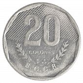 20 old costa rican colones coin
