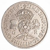 Two Old British Shillings Coin