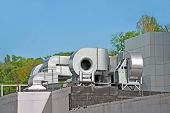 picture of hvac  - Industrial air conditioning and ventilation systems on a roof - JPG