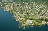 Aerial View Of Seattle Peninsula