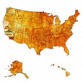 California On Map Of Usa