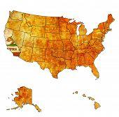 California On Map Of Usa