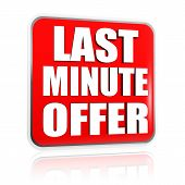Last Minute Offer In Red Banner