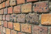 Curved Brick Wall Background