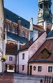 Medieval street in old Riga