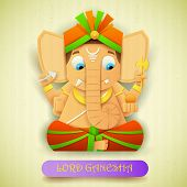 illustration of statue of Lord Ganesha made of paper for Ganesh Chaturthi