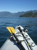 Kayak And Fishing Rod