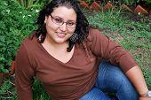 Beautiful Hispanic Woman Outside
