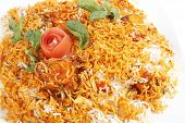 stock photo of indian chief  - biryani rice in Indian style   - JPG