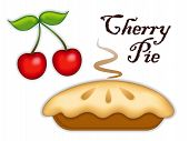 foto of black-cherry  - Traditional fresh baked Cherry Pie - JPG