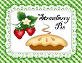Strawberry Pie, Lace Doily Mat, Green Check Background