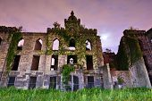 Ruins from the Smallpox Hospital on Roosevelt Island in New York City.