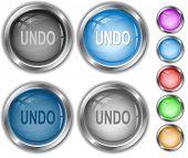 Undo. Raster internet buttons. Vector version is in portfolio.