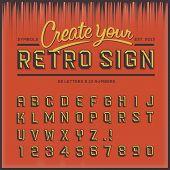 Fonte tipo retro, tipografia vintage