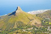 Lion's Head Mountain And Cape Town, South Africa.